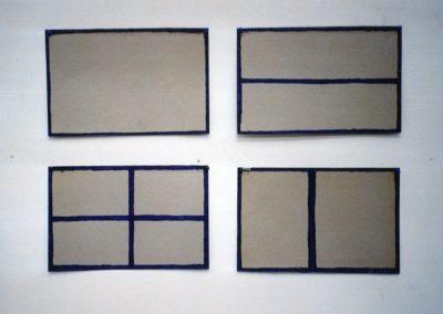 """""""Cadre"""" 1990 (Series of 4) 58 x 82cm"""